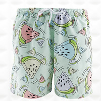 Franks Swim Shorts in Watermelon Print - Urban Outfitters