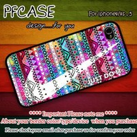 Nike Just do it on best aztec Handmade case For Iphone 44s 5 by pfcase on Zibbet