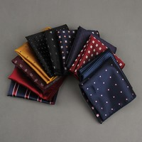 Polka Dots Striped Pocket Square