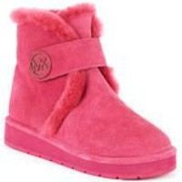Michael Kors Winter Bootie Women Suede Winter Boot, Pink, Size 10.0