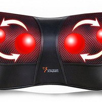 Shiatsu Kneading Massage Pillow with Heat,Neck,Shoulder & Back Massager for Home/Car/Office