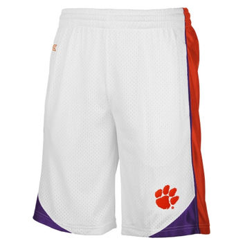 Clemson Tigers Vector Mesh Shorts – White