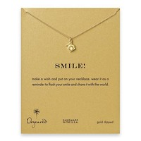 "Art Effect | Dogeared Jewelry - Dogeared ""Smile"" Gold Camera Necklace"