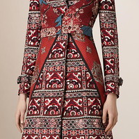Mirror-Embellished Trench Coat