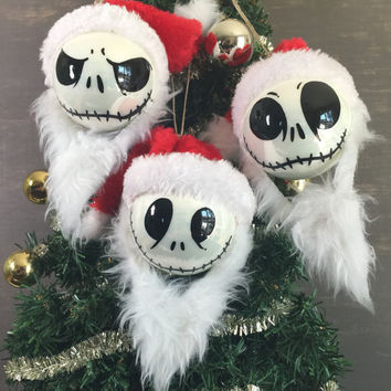 jack skellington nightmare before christmas inspired ornaments queenie_auntie_nana2017 - Jack Skellington Christmas Decorations
