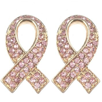 Pink Breast Cancer Awareness Pink Ribbon Earring
