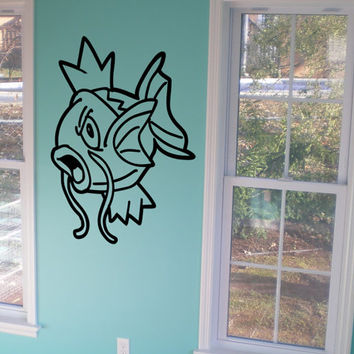 Magikarp Decal Pokemon Wall Decal Kids Room Decal Kids Wall Art Wall Decal Sticker Bedroom Sticker Wall Art Gift Decoration