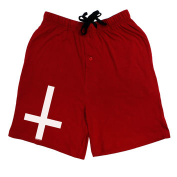 Inverted Cross Adult Lounge Shorts