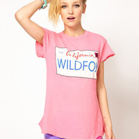 Pink Wildfox Graphic Print T-Shirt