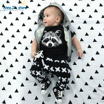 Novelty clothes for little boys with short sleeves fox sliders baby clothes for girls set clothes for newborns