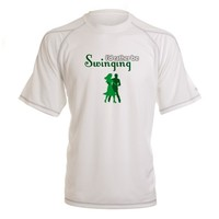 I'd Rather Be Swinging Peformance Dry T-Shirt on CafePress.com