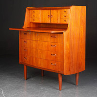 SOLD Poul Jessen Teak secretary signed VIby PMJ