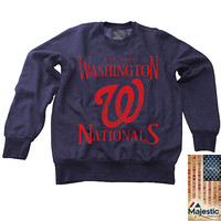 Washington Nationals Classic Crewneck Fleece by Majestic Threads - MLB.com Shop