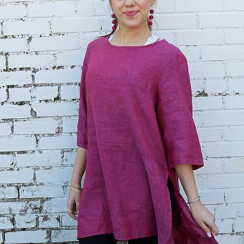 Bre Tunic - Granada Plum by Bryn Walker