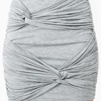 Forget Me Knot Skirt - Heather Gray