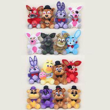 20-25cm  At  foxy Fazbear Freddy Bear Bonnie Chica Nightmare Freddy  plush toy Kid Children Dolls Gift