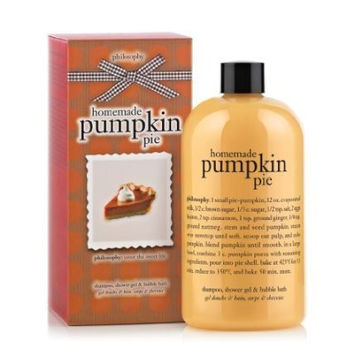 Philosophy Homemade Pumpkin Pie Shampoo, Shower Gel and Bubble Bath, 16 Ounce