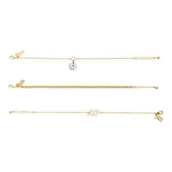 Kate Spade Things We Love Xo Bracelet Set Clear Multi ONE