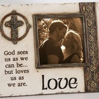 "4  "" Love ""  Picture Frames - 6.5 "" H X 8 "" W X .5 "" D"