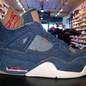 "Air Jordan 4 Levi Denim ""Levi Logo"" Brand New"