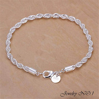 Silver Plated Bracelet Fashion Jewelry For Men and Women