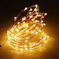 3AA Battery Powered 4M 40 LED Strip Copper Wire Christmas lights Decoration Holiday Lighting With Battery Box LED String Light