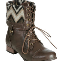 Foldover Combat Boot (Wide Width) | Shop Jr. Plus at Wet Seal