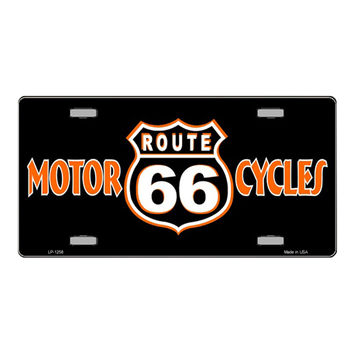 Smart Blonde Route 66 Motorcycles Novelty Vanity Metal License Plate Tag Sign