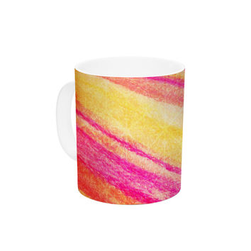 "Ebi Emporium ""All That Jazz"" Yellow Pink Ceramic Coffee Mug"