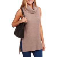Faded Glory Women's Sleeveless Cowl Neck Sweater - Walmart.com