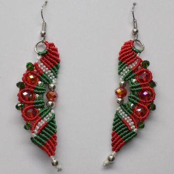 Holiday Party Macrame Earrings