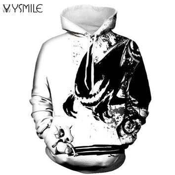 2017 New Men&Women Hoodies Pokemon Men 3D Print Harajuku Punk Style Sweatshirts Couple Hoodie Motorcycle Streetwear High Quality