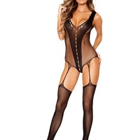 Roma RM-LI201 V-Shaped Bodystocking