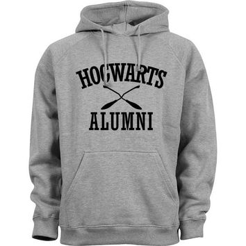 Grey Hogwarts Alumni Hoodie - Harry Potter Sweatshirt