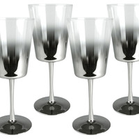 One Kings Lane - Serve Up a Scare - S/4 Shadow Goblets, Silver