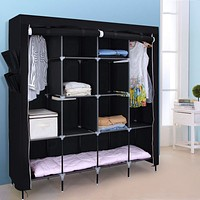 Portable Bedroom Wardrobe Clothes Storage Closet