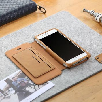 DCCKHY9 D-park Flip Leather Mobile Phone Case Cover For iPhone 6/6s Plus 5.5 inch Wallet Case for Apple iPhone 6/6s 4.7 With Card Slot