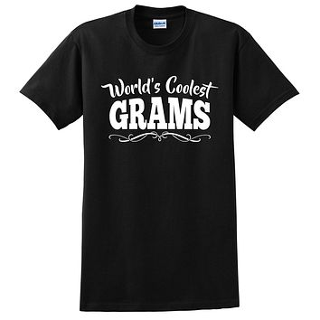World's coolest grams Mother's day birthday gift ideas for new grandma proud grandmom gifts for her T Shirt