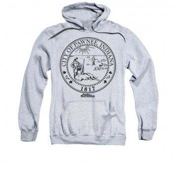 PARKS AND RECREATION PAWNEE SEAL PULLOVER HOODIE