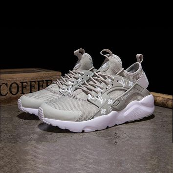 Best Online Sale LV x Supreme x Nike Air Huarache Custom Grey White Sport Running Shoes
