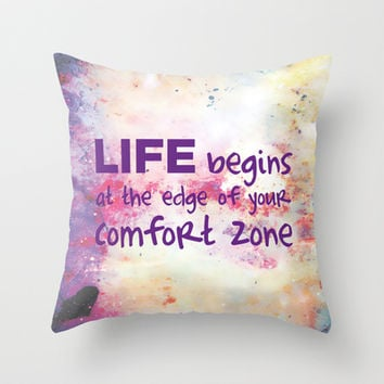 Life Begins... Throw Pillow by C Designz