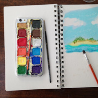 Watercolor Paint Set, Custom Phone Case for iPhone 4/4s, 5/5s, 6/6s, 6/6s+ and iPod Touch 5