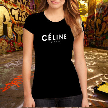 Celine Logo Premium Fashion Printed T Shirt, Women T Shirt, Cotton T Shirt, (Various Color Available)