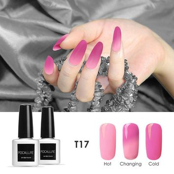 Focallure Gel Nail Polish Temperature Soak off UV/ LED Nail Polish 30 Colors Change Lacquer 7ml Nail Gel Varnishes