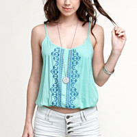 Kirra Embroidered Bubble Hem Shirt at PacSun.com