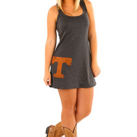 Judith March: University Of Tennessee Tank Dress: Gray
