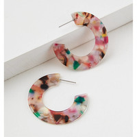 AE Multi Resin Hoop Earring, Multi
