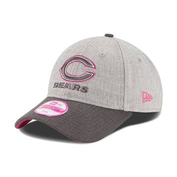 Womens Chicago Bears Breast Cancer Slouch Adjustable Hat