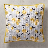 Dinora Euro Sham in Yellow Euro Sham Size Bedding by Anthropologie