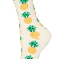 Cream Pineapple Ankle Socks - Topshop USA